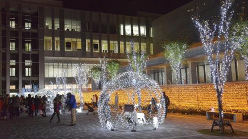 〈秋田市〉あきた光のファンタジー2018 ▷秋田の冬が温かな光で照らされる