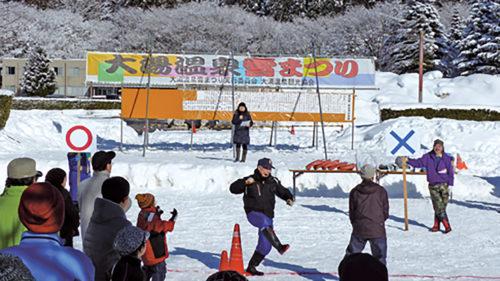 〈鹿角市〉大湯温泉雪まつり▷冬の雪国ならではの企画が多数