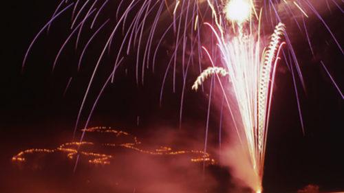 〈仙北市〉白岩城址燈火祭▷中世、近世の白岩の栄華を光で再現