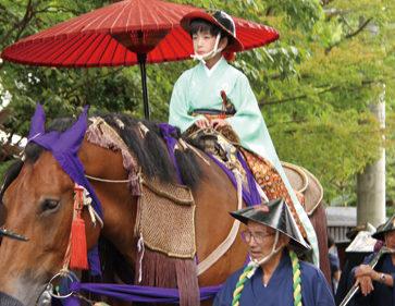 〈湯沢市〉愛宕神社祭典 大名行列▷数百名が練り歩く格式高い大名行列