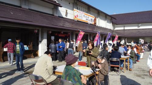 〈鹿角市〉きりたんぽ発祥まつり▷きりたんぽ鍋の名店が集結する