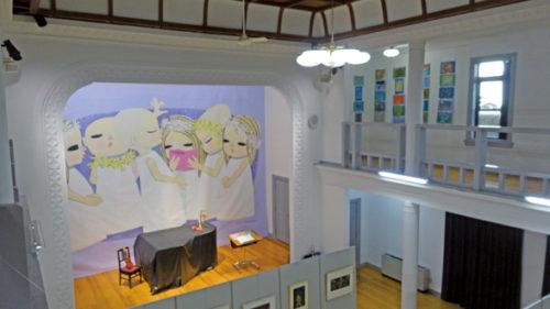 〈にかほ市〉池田修三木版画展 まちびと美術館「ふたあり」▷町そのものが木版画の美術館に