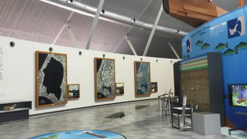 〈大潟村〉大潟村干拓博物館▷大潟村の発展の様子を展示する