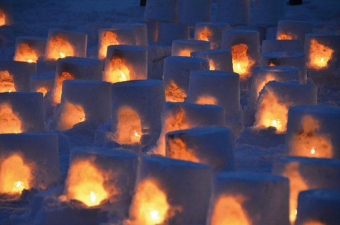 〈上小阿仁村〉ミニかまくらづくり▷秋田の冬の風物詩 ミニかまくらの灯りで癒やされて