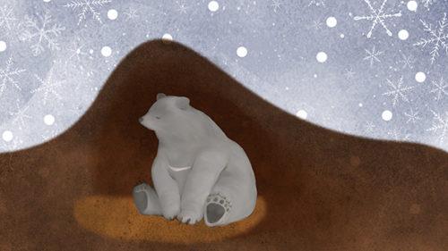 〈北秋田市〉くまくま園冬眠見学 手ぶらで温泉&マタギ資料館プラン▷冬眠中のツキノワグマに出会える