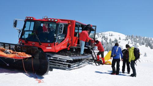 〈北秋田市〉森吉山 ピステンツアー▷平日限定! 雪上車に乗って春の森吉山を満喫しよう