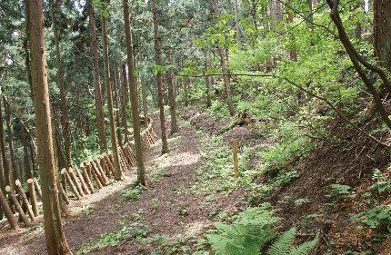 〈八郎潟町〉浦城跡▷城郭を整備して当時の山城を再現