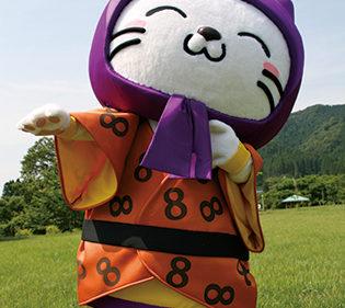 〈八郎潟町〉ニャンパチ▷願人踊がモチーフのキャラクター