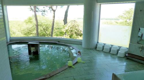 〈井川町〉定住促進センター 国花苑▷遊んで流した汗を入浴で爽快に
