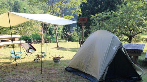 〈三種町〉羽根川森林公園キャンプ場▷アウトドアを楽しめる設備が充実