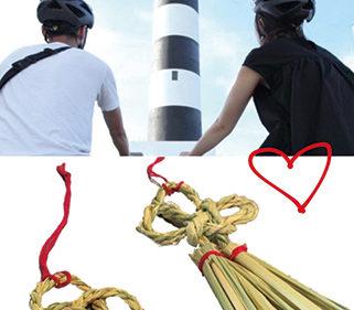 〈男鹿市〉入道埼灯台-ロマンスの聖地Project-▷二人の想いをのせる縁結びの藁