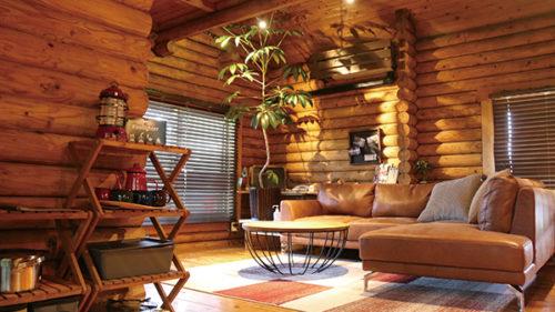 〈羽後町〉グランピング用ログハウス「RISING SUN」▷気軽に楽しむ優雅なキャンプ