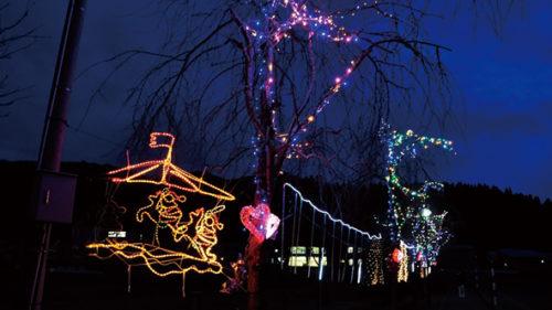 〈東成瀬村〉イルミネーション点灯▷仙人郷の冬を彩る光の演出