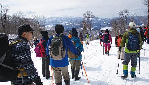 〈由利本荘市〉ひがしゆり雪まつりツアー2021 雪山八塩登山▷雄大な景色を楽しめる冬の登山