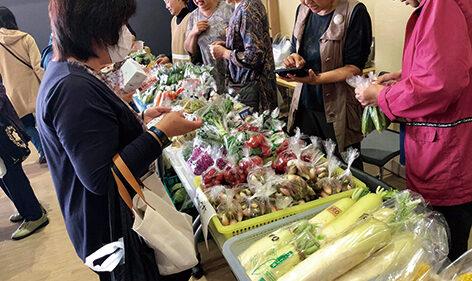 〈八郎潟町〉おもしろ市場▷買い物券の利用でお得に購入できる