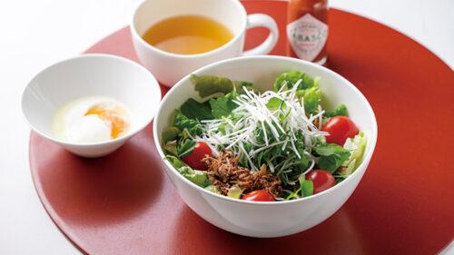 〈藤里町〉かましメシ〜プルドポークライス〜▷プルドポークを香味野菜で爽やかに