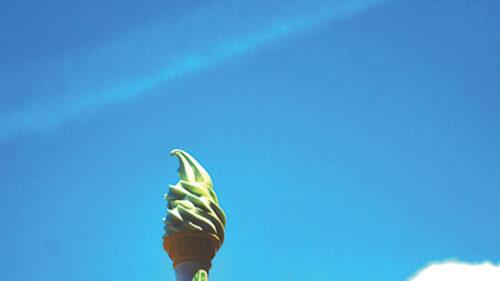 〈八峰町〉さるなしソフト▷一口で広がる爽やかな酸味と甘み