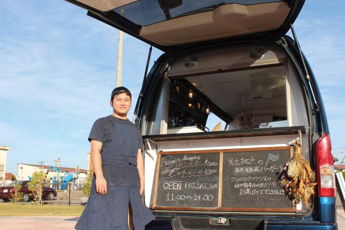 Blue Buck Diner -バーガー修吾-▷厳選食材のバーガーを広場で販売